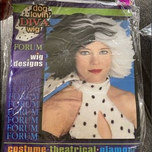 Cruelly de vil style wig.  New